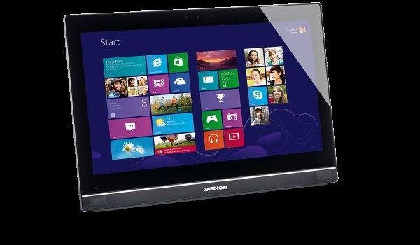 Medion P2029 - All-in-One-PC (Intel J1900 - 4x 2Ghz, 4GB RAM, 500GB HDD, 19,5 Zoll, Win 8.1) - 249€ @ Medion.de
