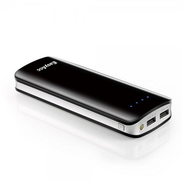 [Amazon] EasyAcc 15600mAh Dual USB Powerbank mit LED Taschenlampe