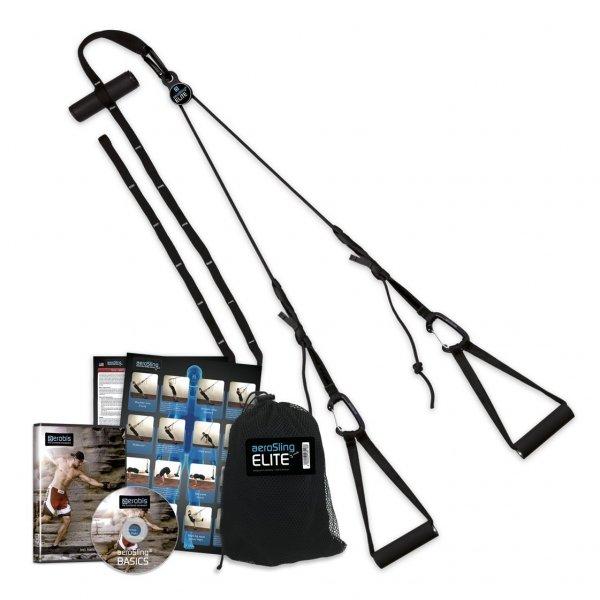 aeroSling ELITE mit Umlenkrolle für Functional Training inkl. DVD und Türanker