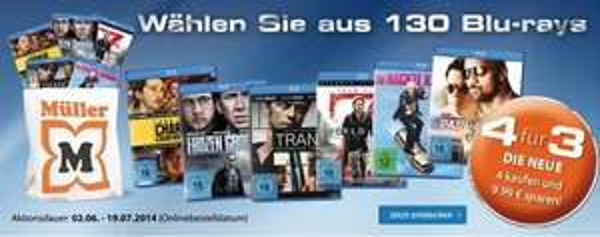 """Müller: """"4 für 3""""-Aktion *Update*"""