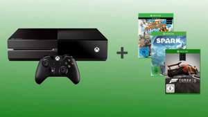 (Amazon) Xbox One + Forza 5 Day One + Sunset Overdrive Day One + Project Spark für 399€