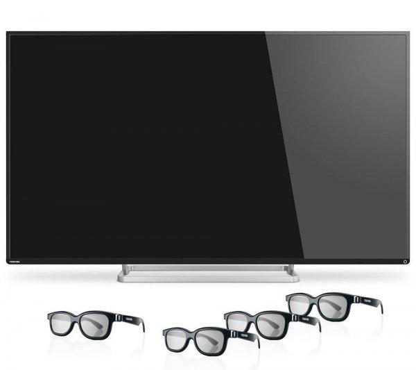 Toshiba 55L7463DG 55 Zoll 3D LED-Backlight-Fernseher // Schwarz Full HD 1500Hz AMR+ // 4x 3D-Brillen // nächster idealo: 929 EUR / B-Ware / ebay