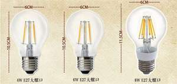 [CN-Aliexpress] Retrofit LED E27 Fadenlampe Retrofit 2800k 100Lumen pro Watt. 4W ~ 4,23€, 6W ~ 5,14€ , 8W ~ 6,66€