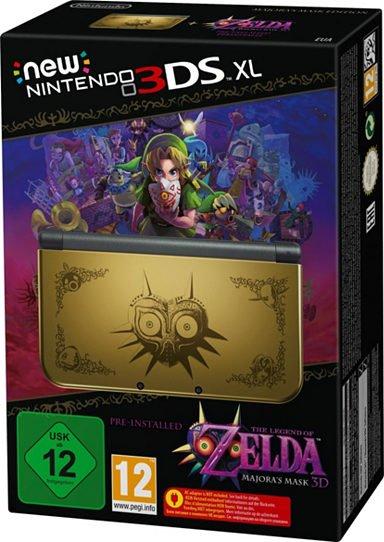 New Nintendo 3DS XL+Zelda Majoras Mask vorinstalliert oder Monster Hunter Konsolen-Set mit 3 Jahren Garantie + Original Netzteil+Tasche (Neukunden zahlen 15,95€ weniger)
