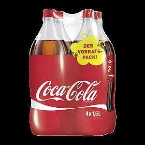 lokal - Rewe Ernst-August-Platz 2 30159 Hannover - 4x 1,5l Coca Cola für 1,99 € + 1 € Pfand