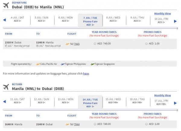 [ERROR FARE] Flüge Dubai-Manila