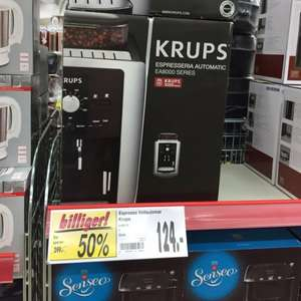 (LOKAL - HOL) Krups EA 8000 Kaffee-Vollautomat Espresseria Automatic (Dampfdüse) schwarz für 124€