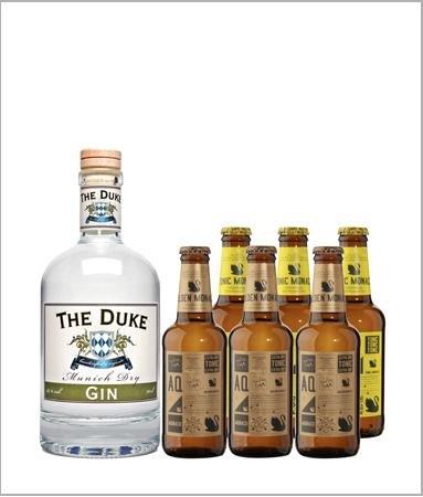 Duke Dry Gin + 3 Tonic Monaco + 3 Golden Tonic Monaco