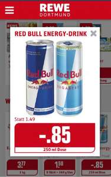 [Lokal] Red Bull 250ml für 0.85€ bei Rewe-Dortmund