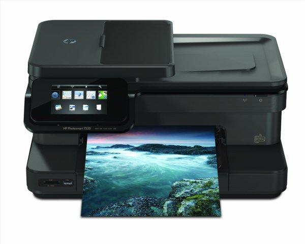 amazon.de Blitzangebote mit Cashback - HP Photosmart 7520 e-All-in-One Tintenstrahl Multifunktionsdrucker (A4, Drucker, Scanner, Kopierer, Wlan, USB, 9600x2400)