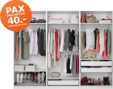 [Ikea Family] Pax pro Meter Aktion - 40 EUR pro Meter Kleiderschrank