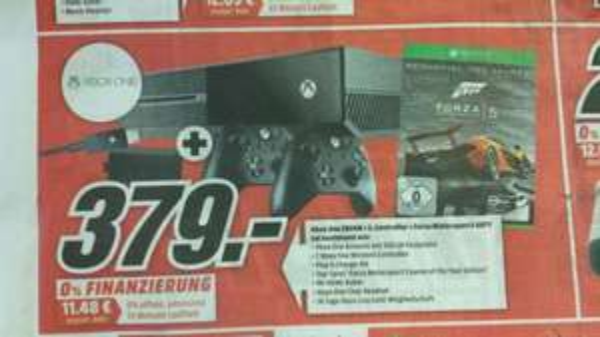 Xbox One 500GB + 2.Controller + Forza 5 GOTY (LOKAL MM Sulzbach)