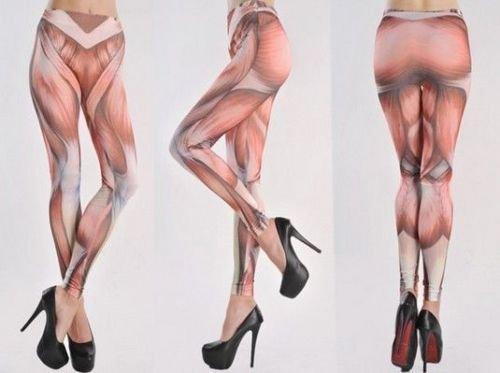 Muskel-Leggins für Damen/Herren.. was nettes für'n Karneval oder Gothic-Freunde