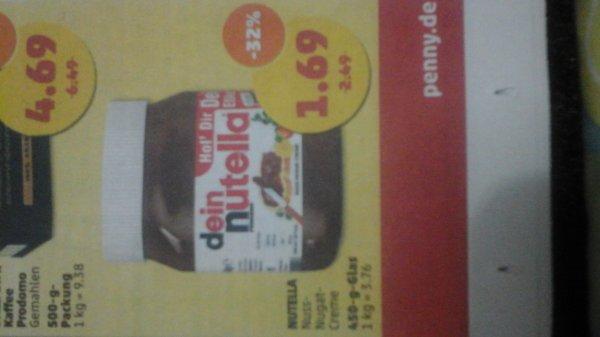 penny nutella 450 g Glas statt 2,49€ ab do - sa für 1,69 €   -32%