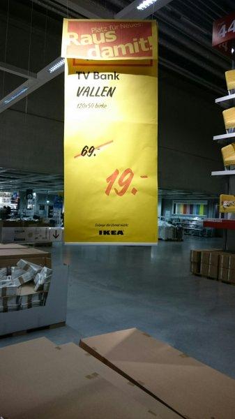[BUNDESWEIT?] TV Bank VALLEN für 19€ im IKEA Berlin-Lichtenberg