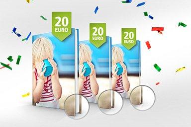 posterXXL Fotobuch oder Fotoleinwand für 20€