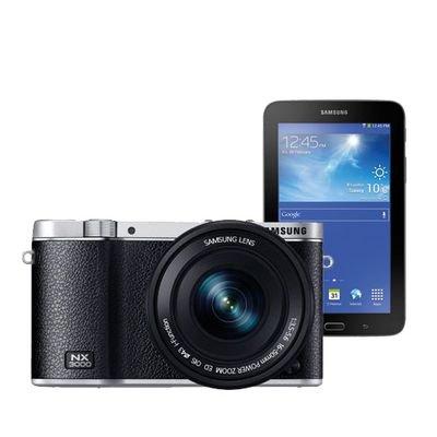 @Saturn.de und bundesweit: Samsung NX3000 + Samsung Tab 3 7.0 lite für 279€