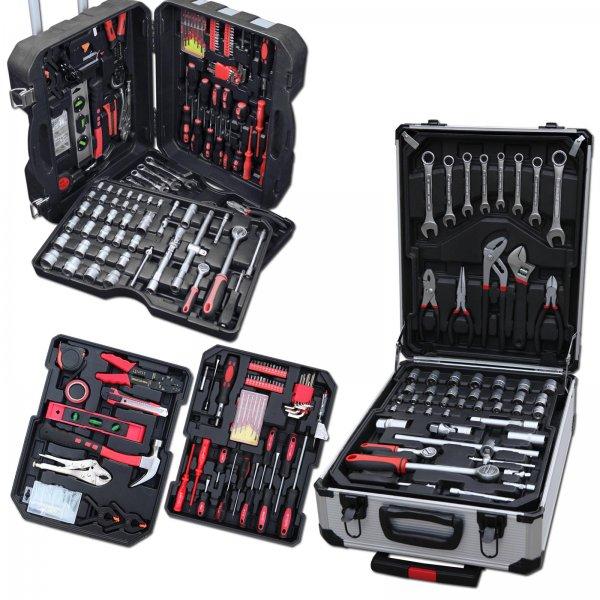 TLG Werkzeugkoffer in zwei Ausführungen Chrom Vanadium mit Trolleyfunktion (207 Teile) für  59,95€  @ Ebay