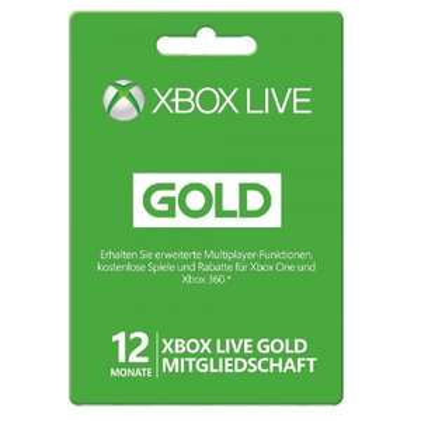 Microsoft XBox Live Gold 12 Monate Mitgliedschaft