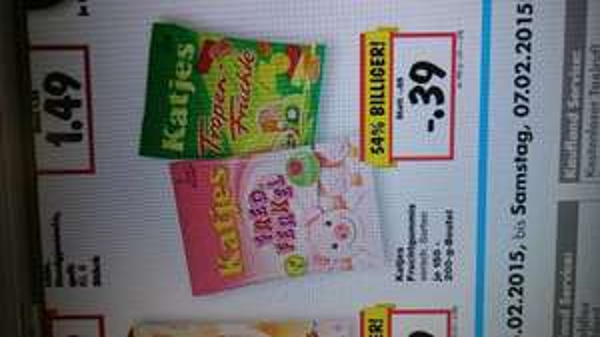 Kaufland NRW, eventuell Bundesweit Superweekend vom 05.-07.02 Katjes Fruchtgummi für 0,39 € pro Tüte.