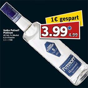 Vodka PUTINOFF Platinum zum Bestpreis am Samstag den 7.2. bei [Lidl]