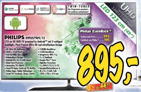 [lokal Technoland Deizisau] Philips 49PUS7909 für 895€ (Idealo: 1068€ + 29,99€ VSK)