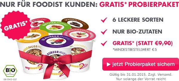 MyMüsli 6er Probierpaket Gratis bei 5€ MBW + Versand