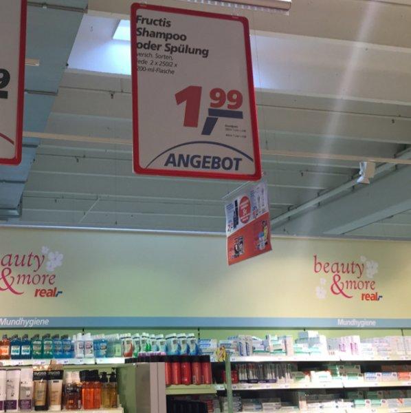 [Real Gütersloh] Doppelpack Fructis Shampoo oder Spülung 2x250/2x200ml 1,99€