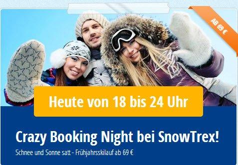 1 Woche Skiurlaub inkl Skipass ab 69 € -Crazy booking nigth www.snowtrex.de