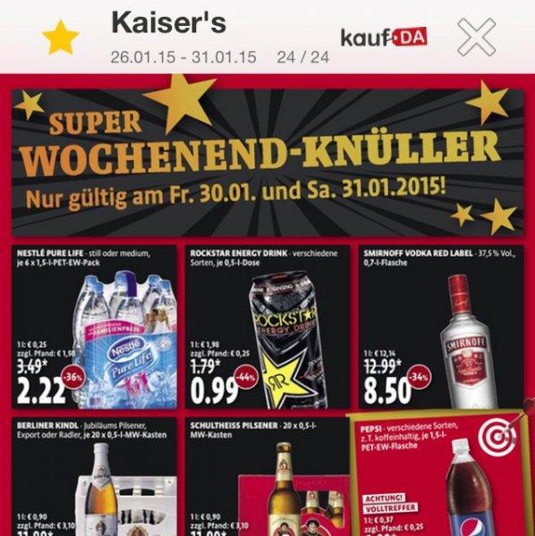 [Lokal Berlin] Smirnoff Red 0,7l 8,50€ bei Kaisers am 30.01. u 31.01