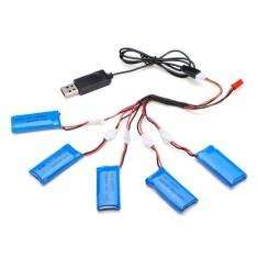 5x 500mAh Flugakku incl. USB-Ladegerät für vielerlei Quadrocopter, 11,38€ @Banggood