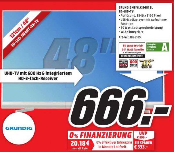 [MM Neubrandenburg] Grundig 48 VLX 8481 SL 4K-TV //Bestellung möglich // 666€