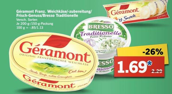 [Lidl / KW06] Géramont Classic 1,29€ (Angebot + Ich-Liebe-Käse.de Cashback)