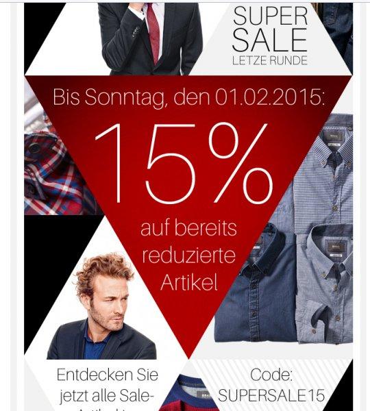 Weingarten Online Shop 15% auf bereits reduzierte Sachen!