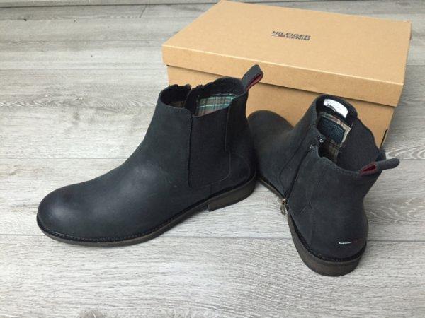 Tommy hilfiger Stiefel alle Größen schwarz Leder