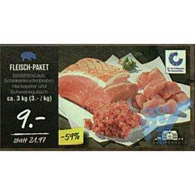 Netto [ohne Hund] Fleischpaket 3KG (je 1KG Krustenbraten, Hackepeter & Gulasch) für 9€ - PVG 22€ [evtl.Lokal Dresden]