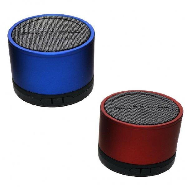 Sound2Go ColourBass Lautsprecher mit MicroSD Kartenslot und Klinkenanschluss in blau oder rot @ebay 11,11€