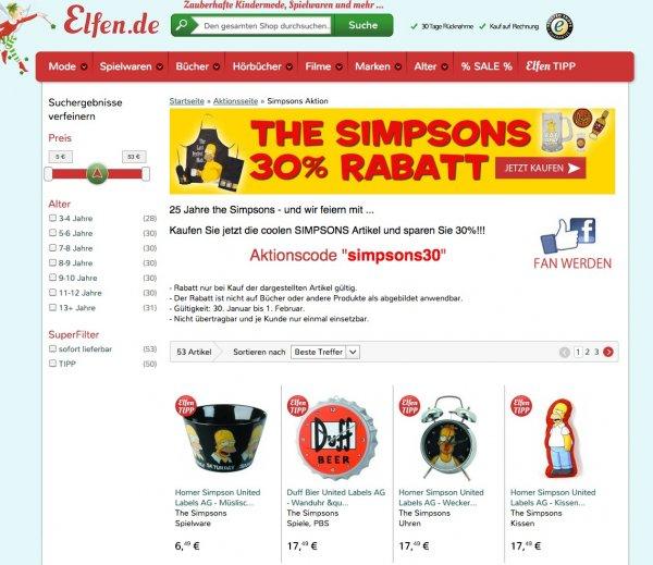 SIMPSONS Kissen und andere coole Sachen 30% Rabatt - nur 12,24 Euro! zzgl.VSK