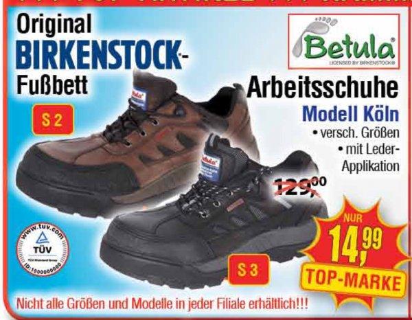 "[Centershop] Betula Birkenstock Arbeitsschuhe ""Köln"" S3 oder S2 14,99€"