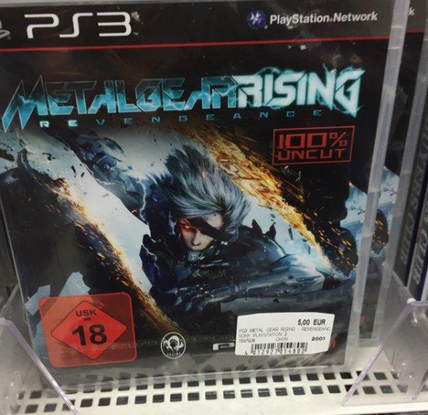 Metal Gear Rising PS3 5€ Media Markt Milaneo Stuttgart
