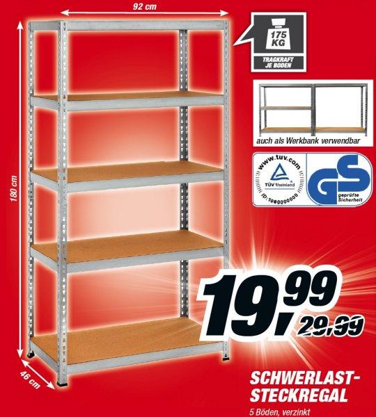 [Bundesweit] Schwerlastregal 180x92x46 mit 5 Böden à 175kg für 19,99€ @Toom-Baumarkt