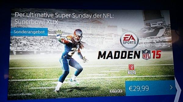 Madden NFL 15 ps Network 29,99  idealo 47,99
