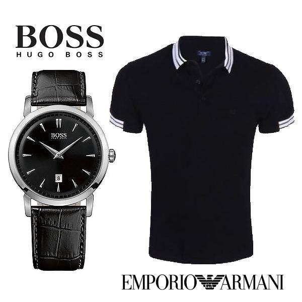 HUGO BOSS Herrenuhr HB1512637 - 75€ günstiger als idealo! + Günstige ARMANI Polo-Shirts