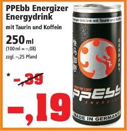 [THOMAS PHILIPPS BUNDESWEIT] Energydrink ppEbb 250ml für 0,19€ = 0,08€/100ml