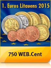 [Webcent] Euro-Münzset Litauen im Wert von 3,88€ + 750 Webcent (= 5€-Bestchoice) für 6,38€