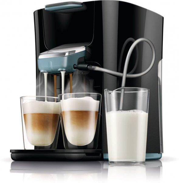 [Blitzangebot] Philips Senseo HD7855/60 Latte Duo-Kaffeepadmaschine (2650 Watt, 1 L, Easy Clean-Taste) schwarz/blau für 119,95€ @Amazon