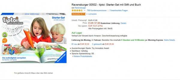 Tiptoi Starter Set Ravensburger 00502 bei Amazon
