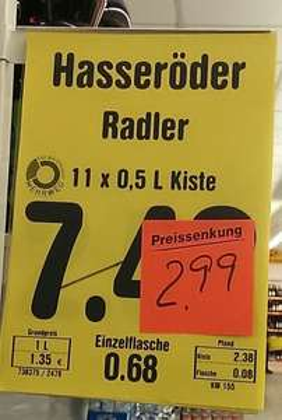 [Rostock Netto KTV]11x 0,5l Hasseröder Radler