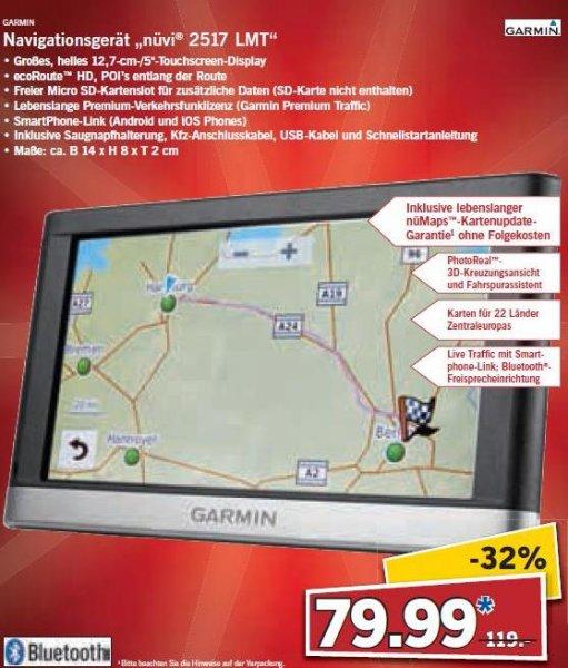 "Garmin Navigationsgerät ""nüvi 2517 LMT""/nüvi 2547 LMT 79,99€ [LOKAL LIDL, Lödla, Rodewisch, Friedrichstadt]"