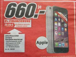 [Lokal: MM Gründau] Apple IPhone 6, 64GB